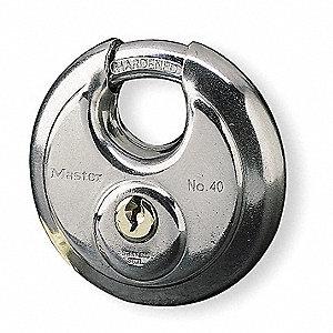 Master Lock Economy Disk Padlock, 5/8 In H, KA, Silver at Sears.com