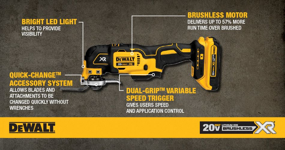 Dewalt Oscillating Tool Kit 20v 21000 25du80 Dcs355d1