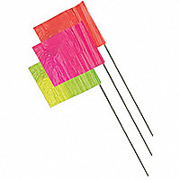 "Fluorescent Wire Stake Flags, 2-1/2"" x 3-1/2"" - 107520"