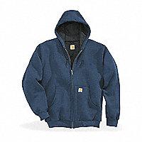 Carhartt® Thermal-Lined Hooded Zip-Front Sweatshirt, Regular, Blue, XXL - 122641BXXL