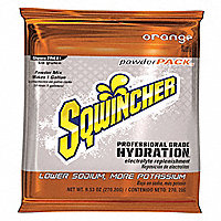 Sqwincher® The Activity Drink®, Powder Pack Instant Dry Mix, Pkg. of 20, Orange - 26691OR