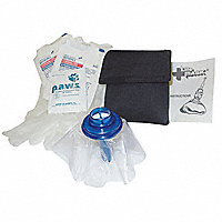 Life Mask® Compact Barrier in Mini Belt Pack, Black - 26715