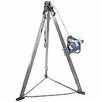 SALA® Three-Way SRL and 9'H Tripod System, 130'L Galvanized Cable - 22172G