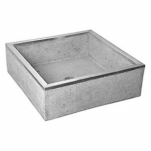 Industrial Mop Sink : Mop Sink,Gray With Black And White Chips