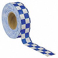 BEN MEADOWS™ Checkered Flagging Tape, White and Blue - 184175