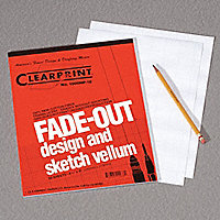 "Tracing Paper with Fade-Out Grid, 16 Lb., 8 1/2""W x 11""L, Pad of 50 - 010056-1"