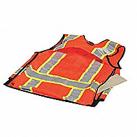 ML KISHIGO Pro Series Reflective Surveyor's Vest, Hi-Vis Orange, Size 2XL - 160465XXL