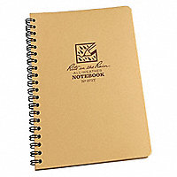 """Rite in the Rain""® Universal Tactical Spiral Notebooks, Tan, 7""H x 4-5/8""W, 100 Pages - 197285"
