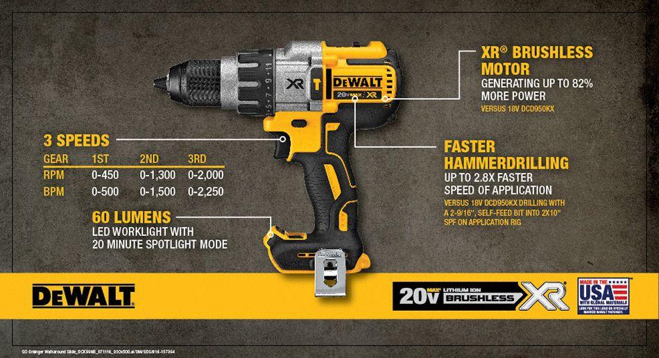 Dewalt 1 2 Quot Cordless Hammer Drill 20 0 Voltage Bare Tool